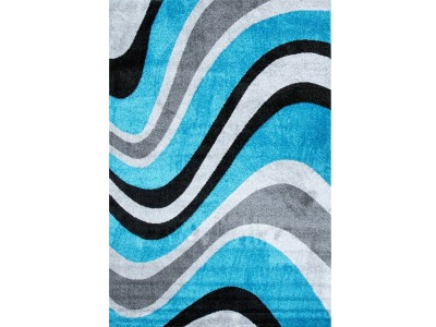 F Collection Turquoise Rug